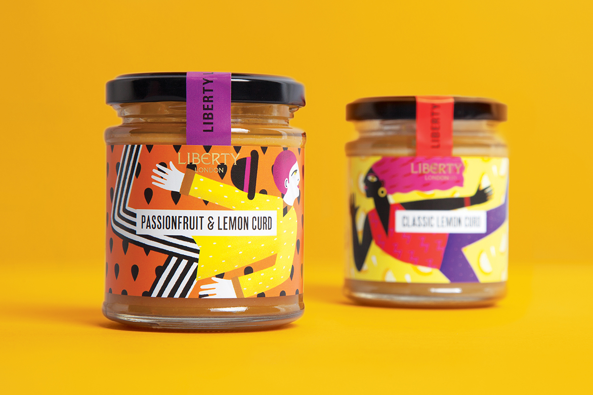lemon curd packaging design