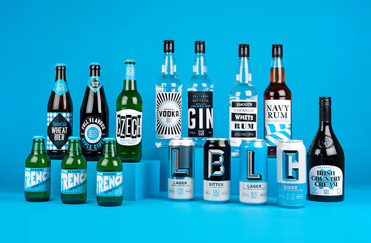product range co-op packaging design
