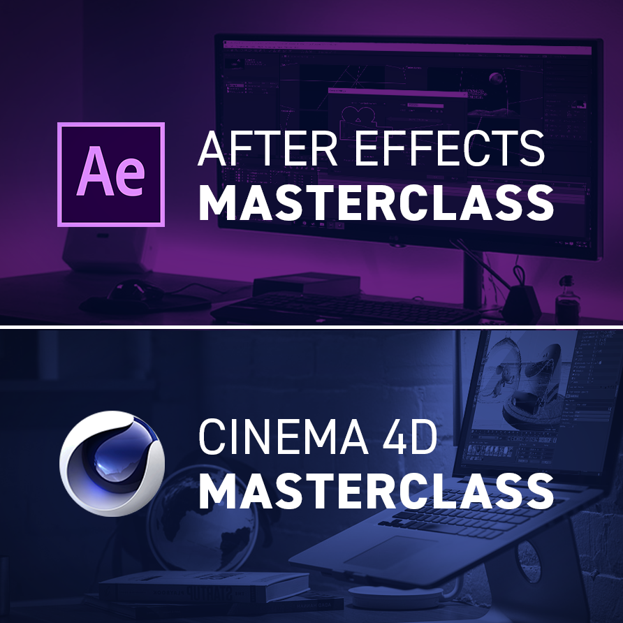 Cinema 4D and After Effects online courses on Yes I'm a Designer