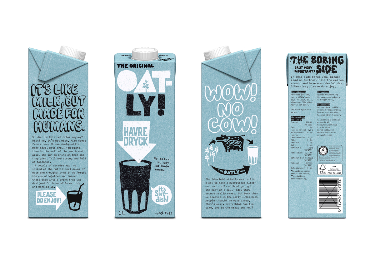 oatly design packaging