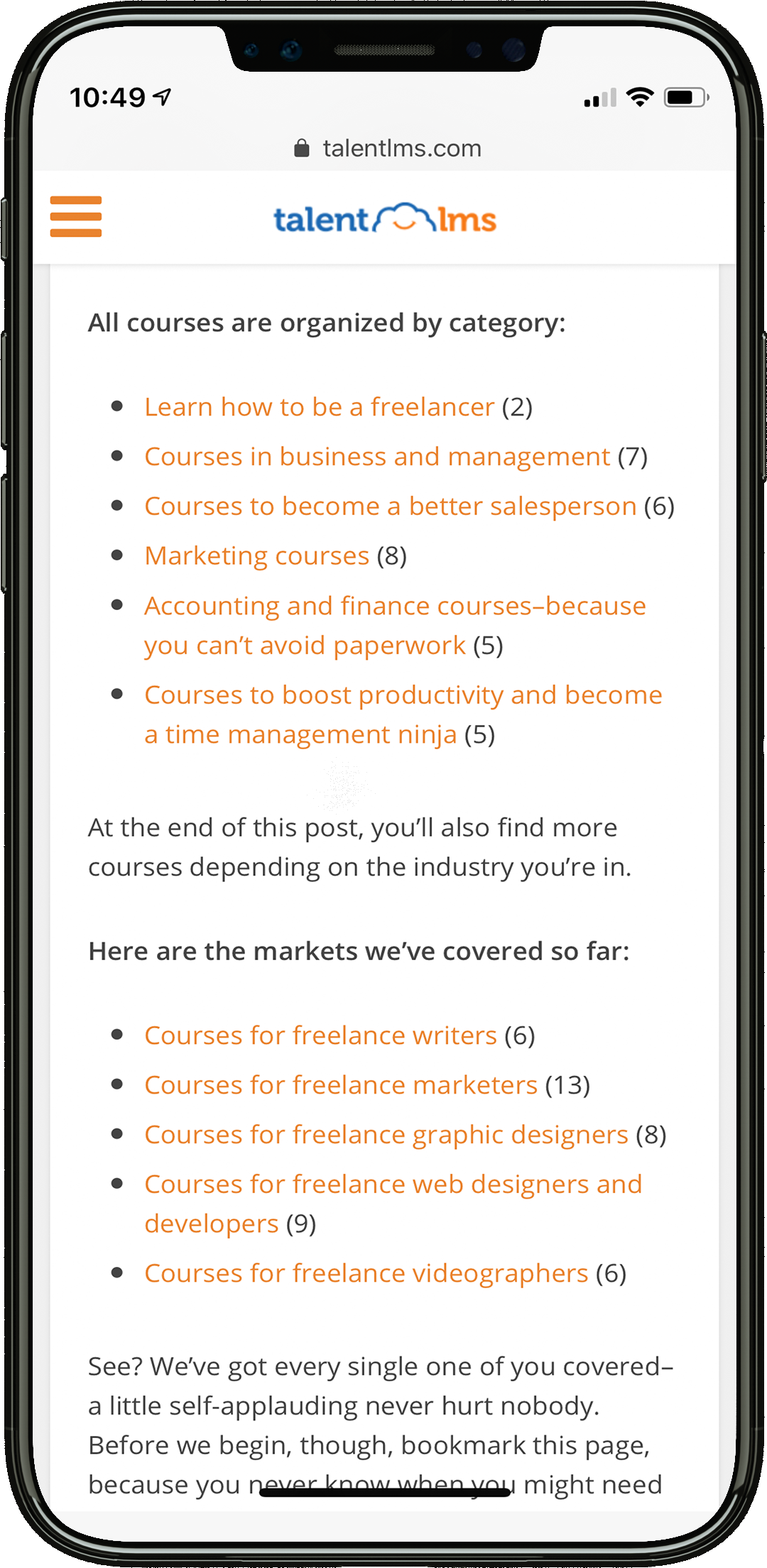 post categories online courses