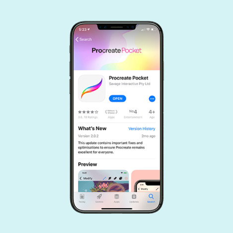 pocket cover image app store