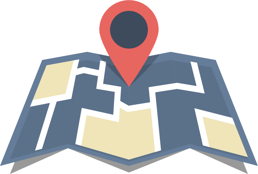 location on a map