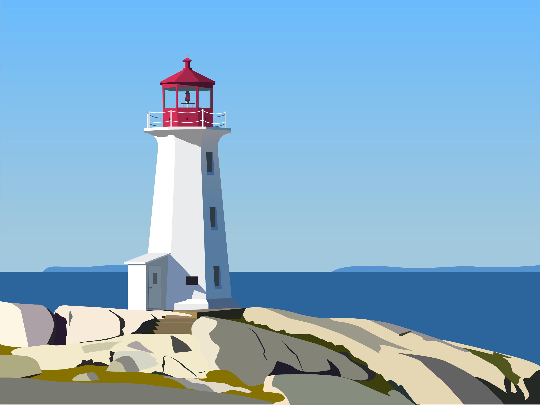 illustration by Bun Mestry lighthouse
