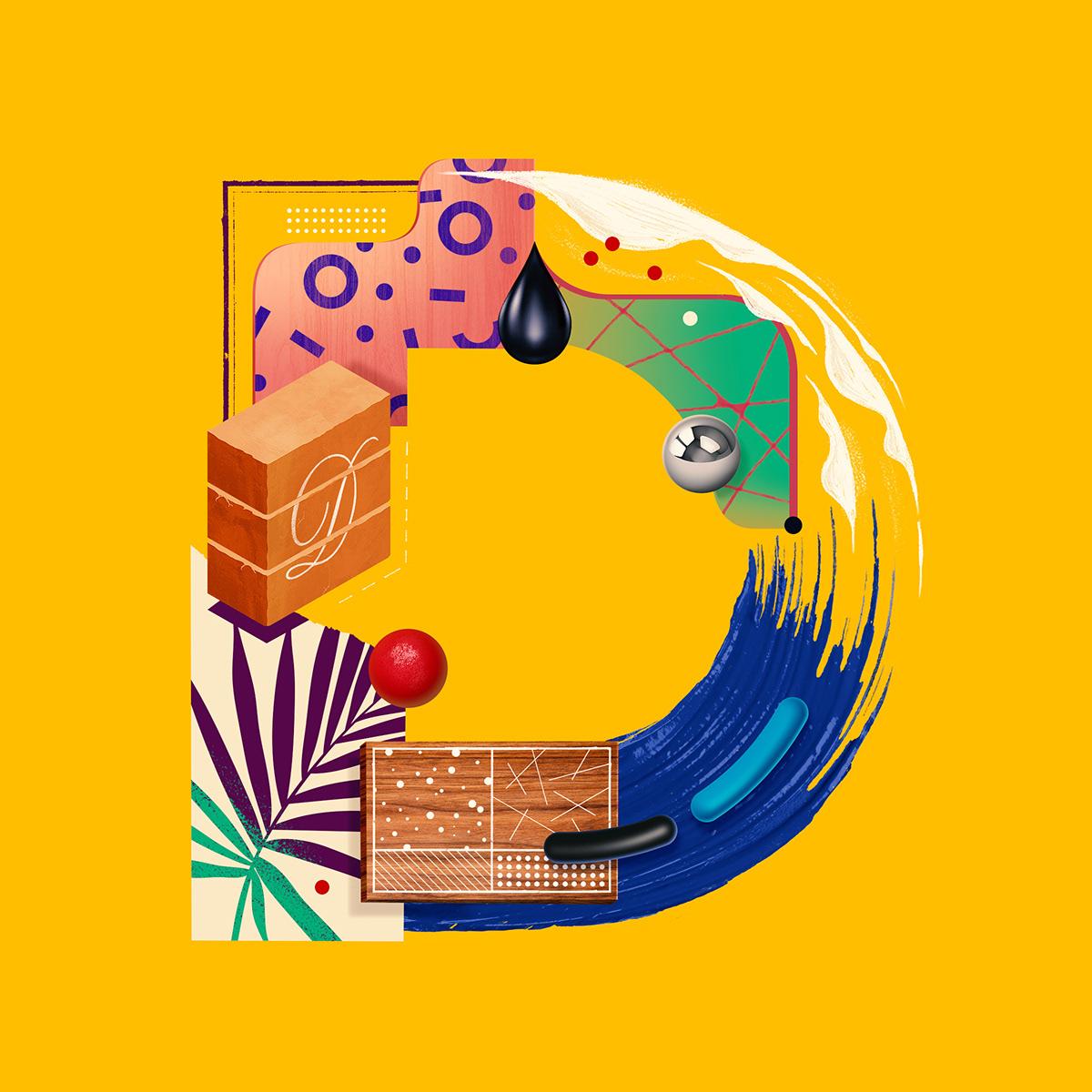 letter project diego morales design work