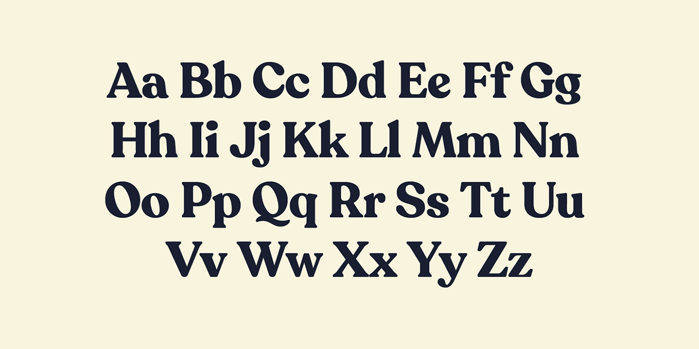 serif recoleta alphabet