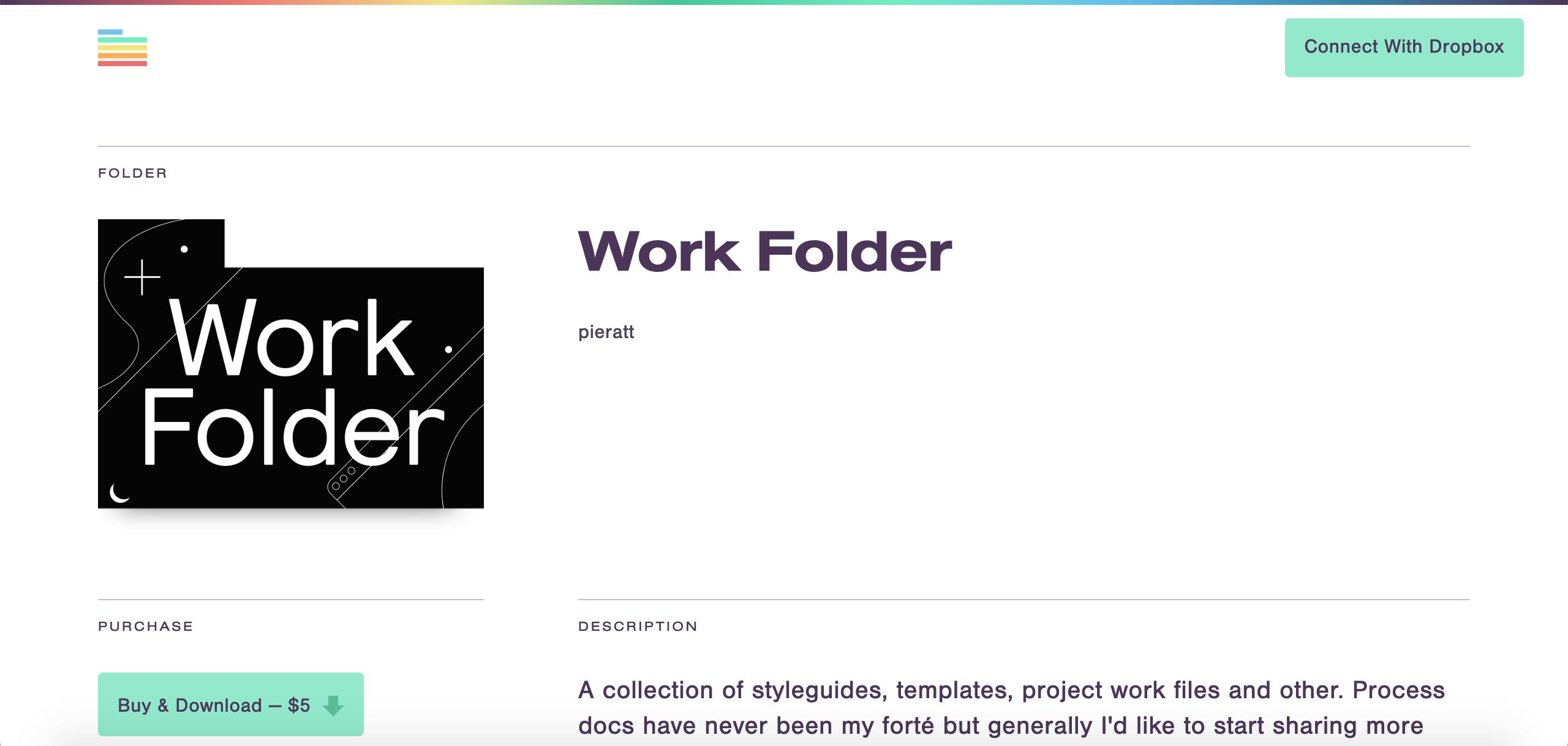 working files work folder drop box
