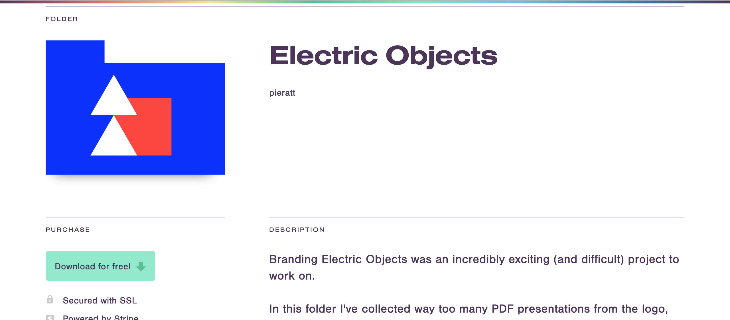working files electric objects
