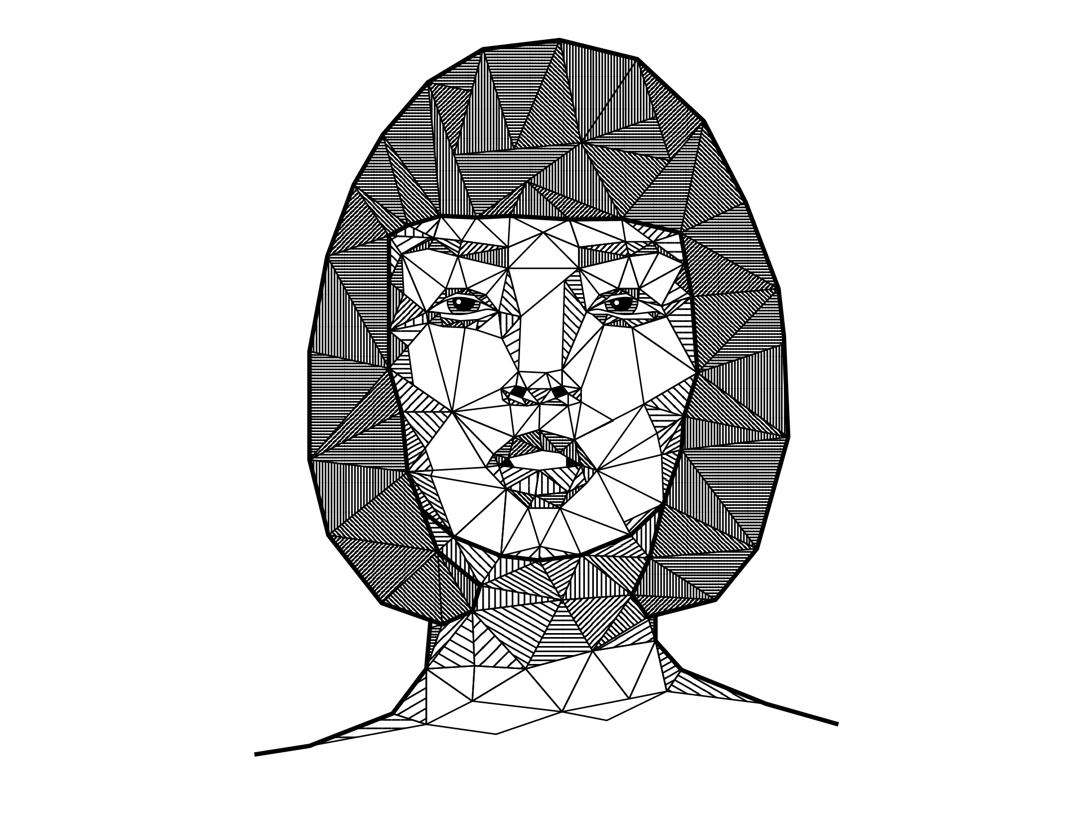 outline low-poly