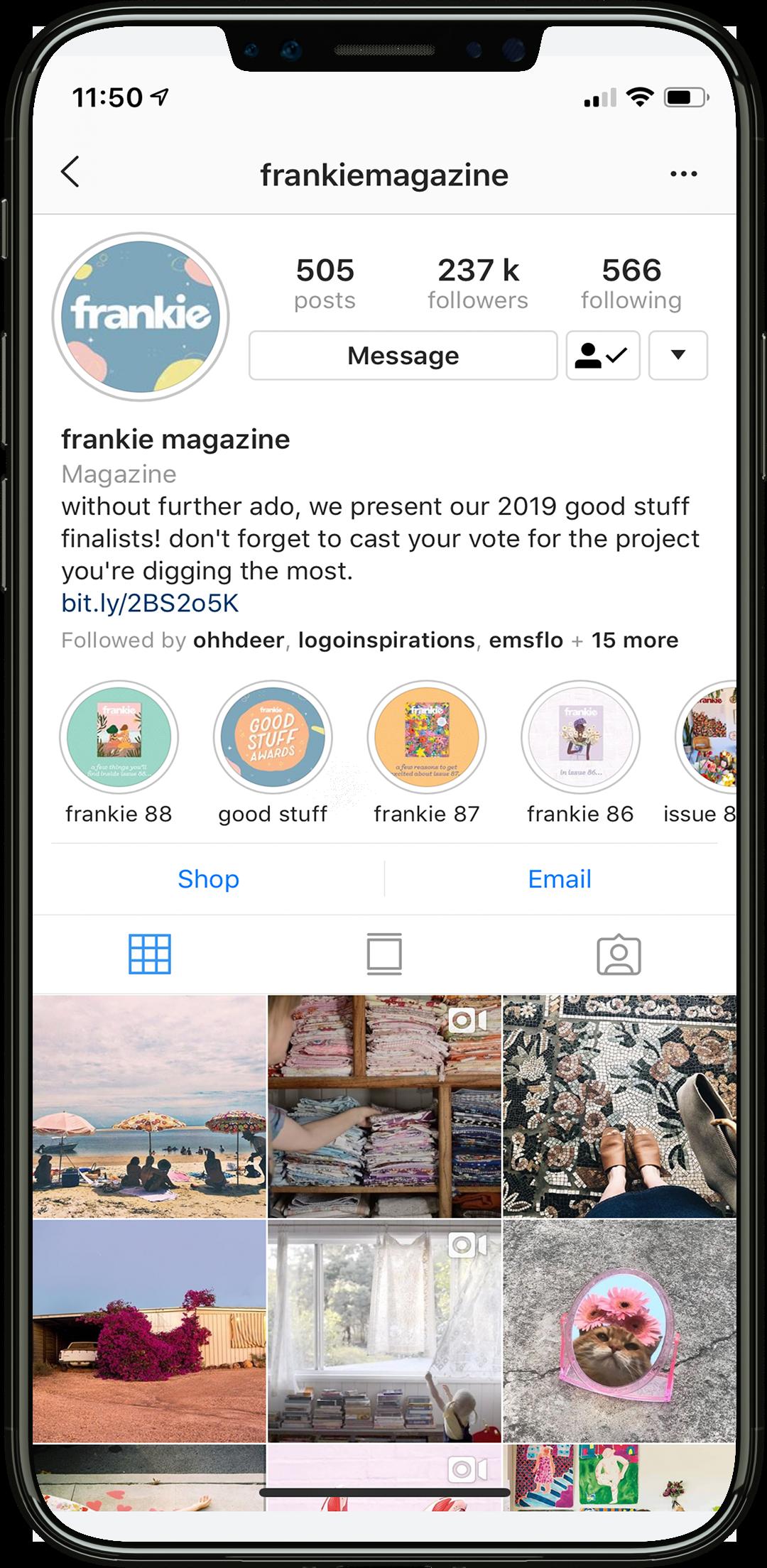 frankie instagram photos