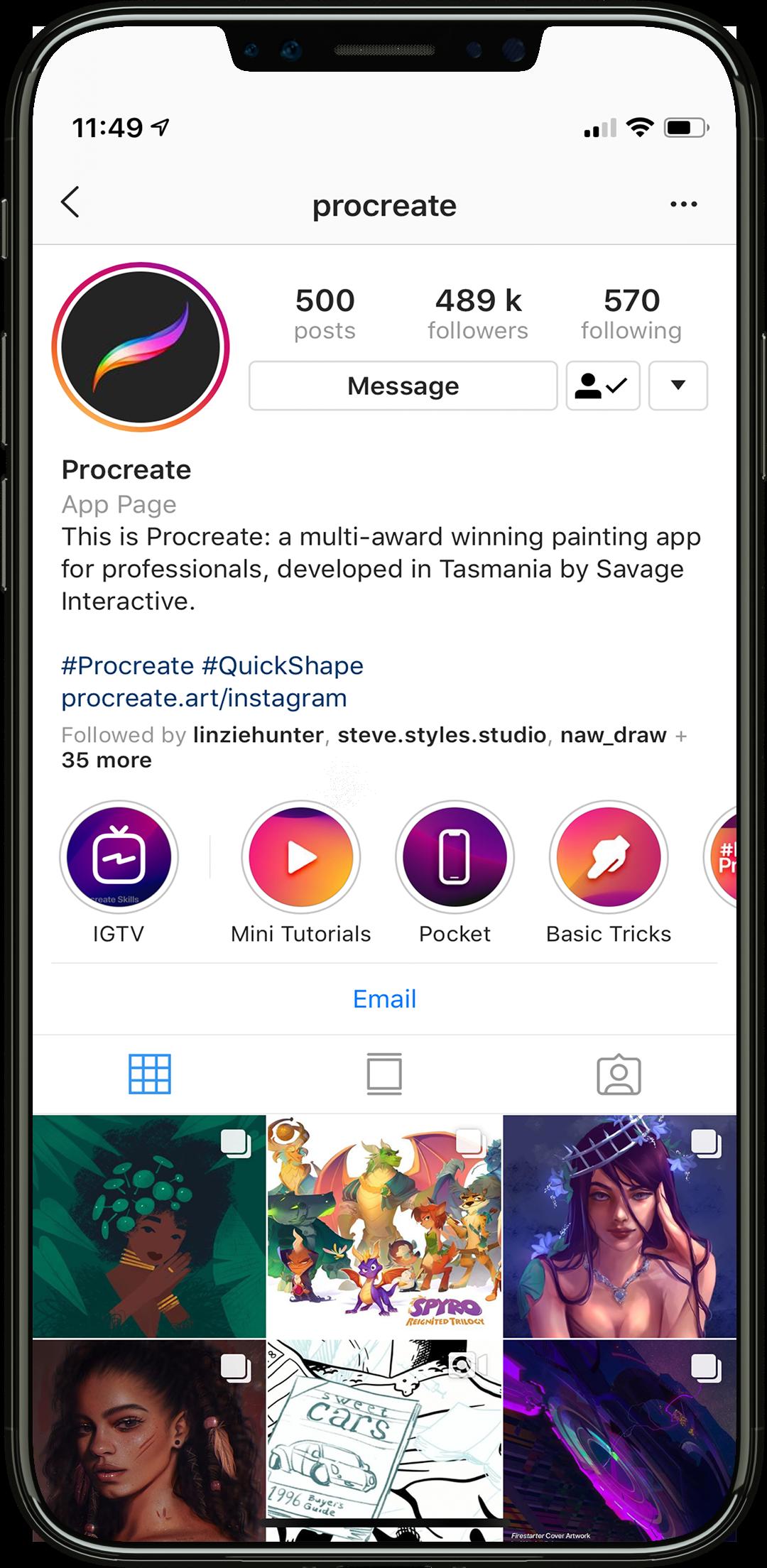 procreate instagram photos