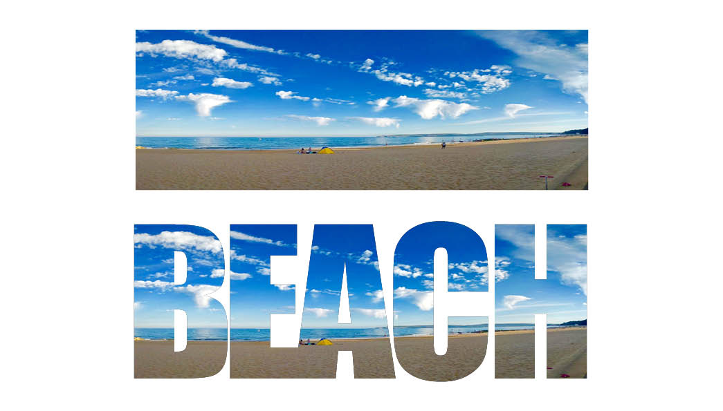 regular and text frame beach adobe indesign