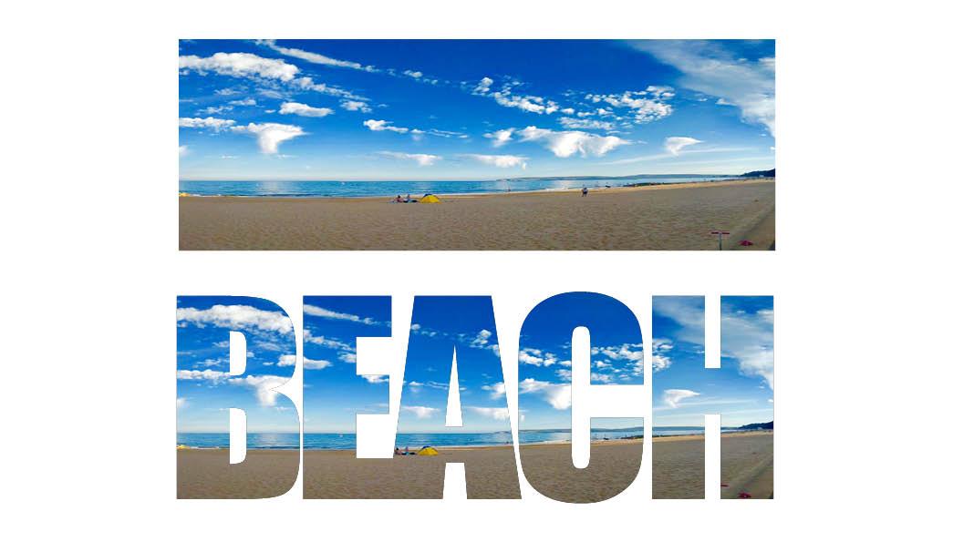 regular and text frame beach adobe indesign