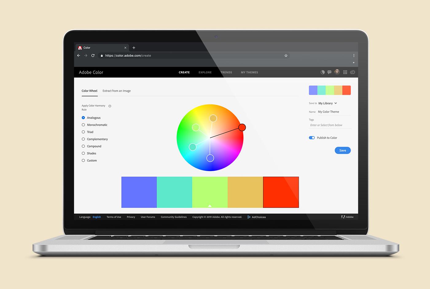 website image Adobe Color