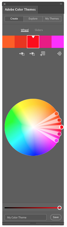 example of Adobe color create tab