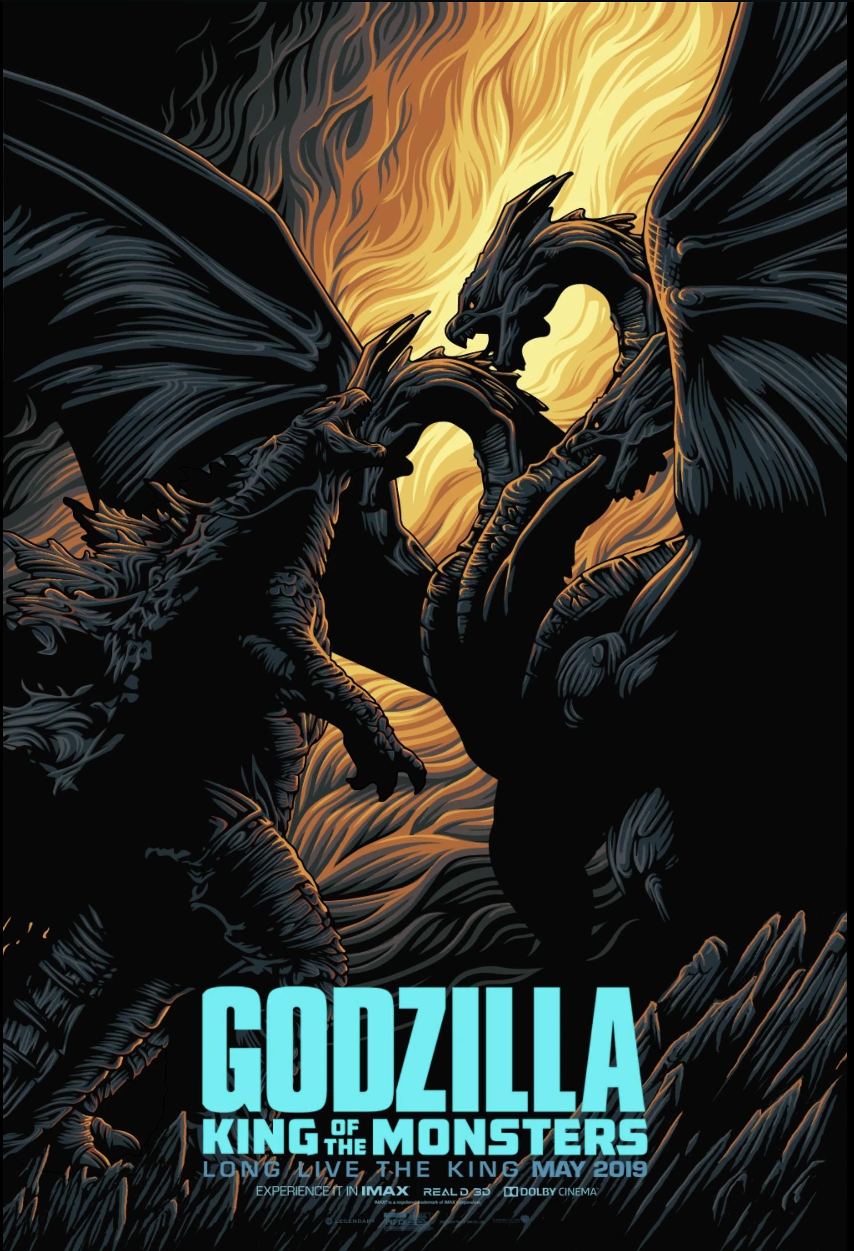 godzilla fan art design entrant Gus Mertha movie poster
