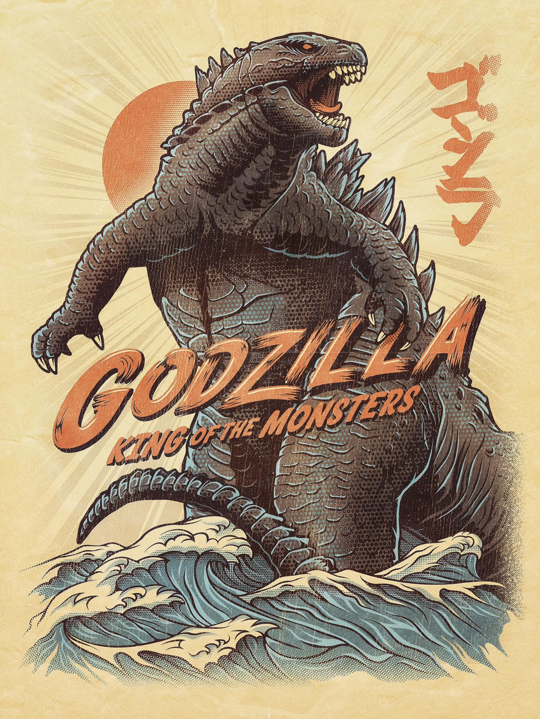 godzilla fan art by Joel Jensen
