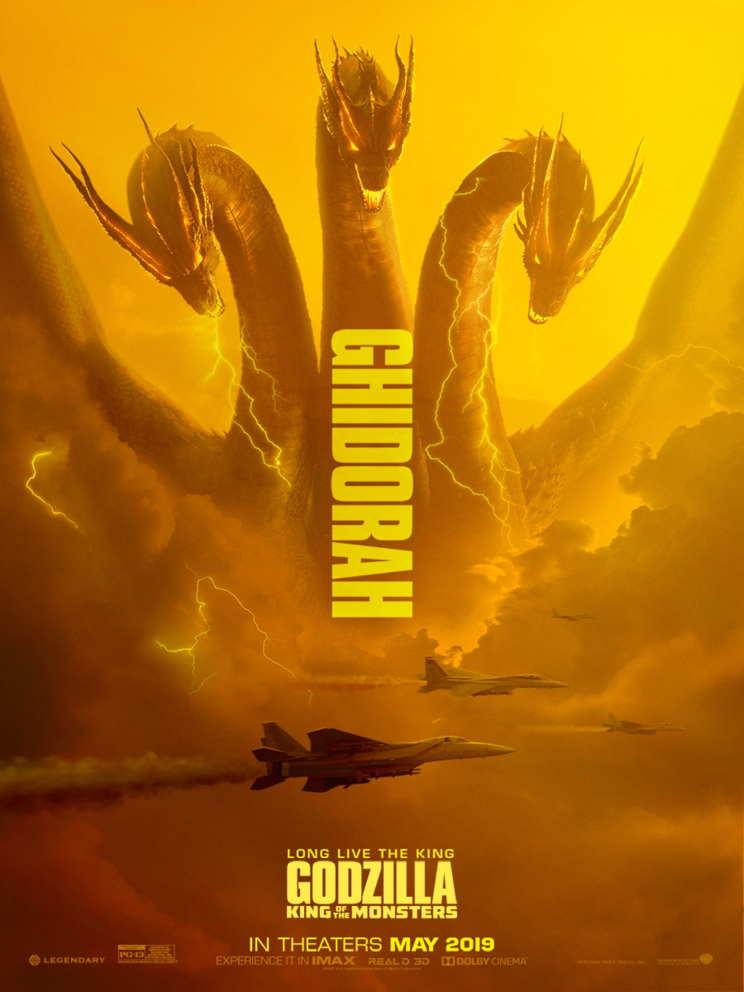 design 3 Godzilla official movie poster