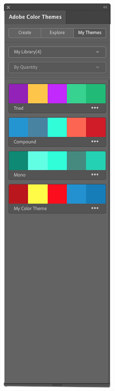 example of My Libary adobe color