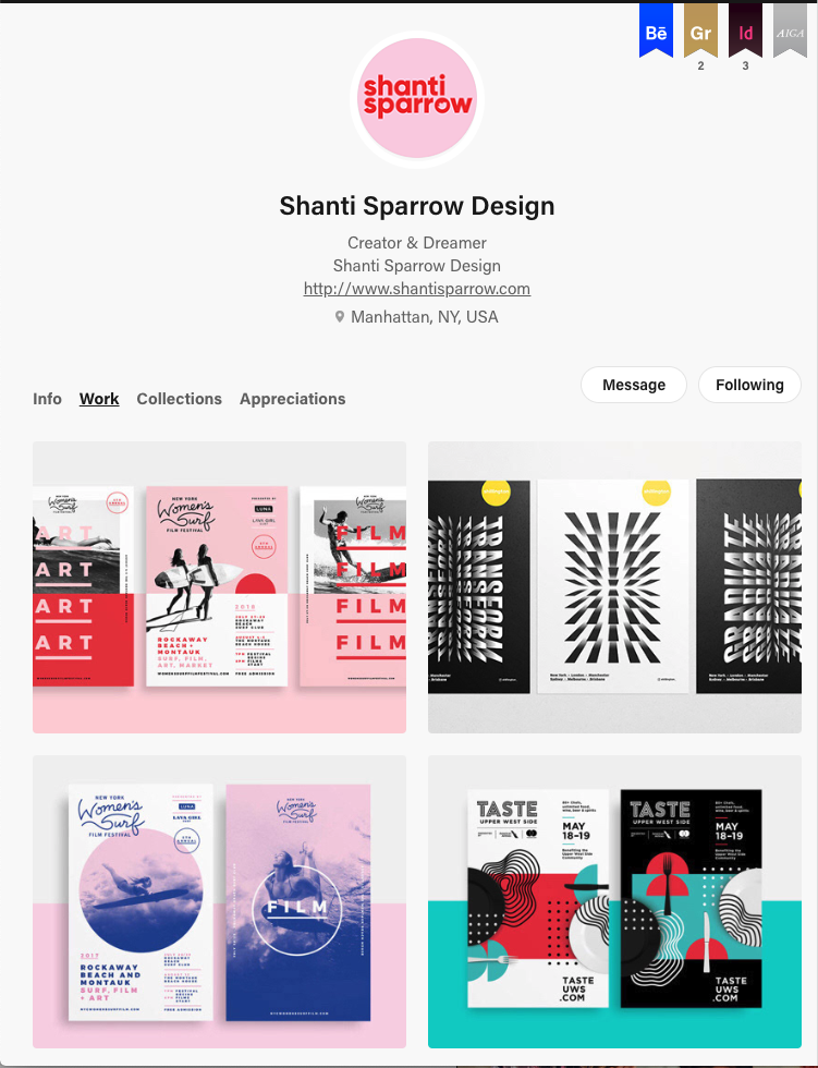 behance example design portfolio