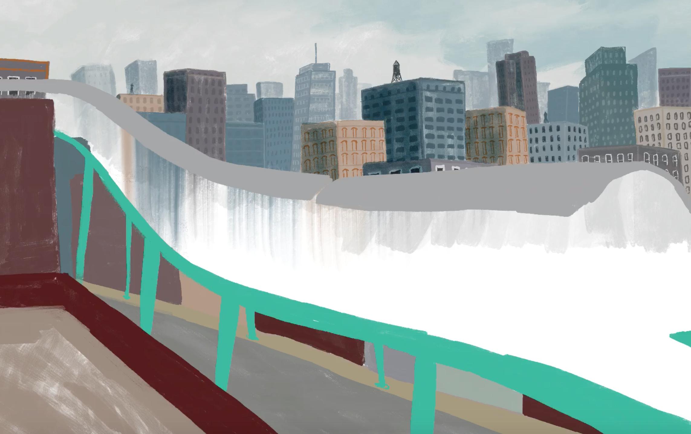train illustration design process